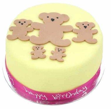 Tiny Teddies Cake delivery to UK [United Kingdom]