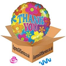 Retro Thank You Balloon Delivery UK