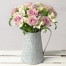 Freesias and Roses by Post Delivery to UK [United Kingdom]