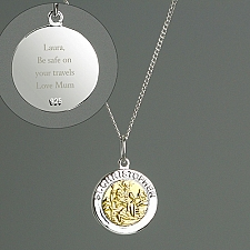 Personalised Sterling Silver Christopher Necklace Delivery to UK