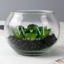 Personalised Initials Glass Terrarium