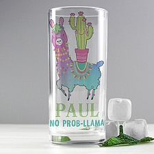 Personalised Llama Hi Ball Glass Delivery to UK