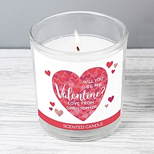 Personalised Valentines Day Confetti Hearts Scented Jar Candle