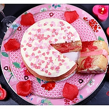 Valentines Strawberry Swirl Cake Delivery to UK