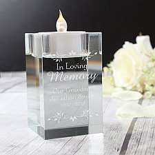 Personalised Sentiments Glass Tea Light Holder Delivery to UK