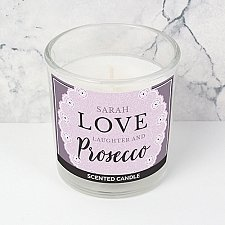Personalised Lilac Lace Scented Jar Candle Delivery to UK