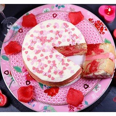 Valentines Strawberry Swirl Cake Delivery to UK