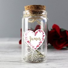 Personalised Confetti Hearts Message in a Bottle Delivery to UK