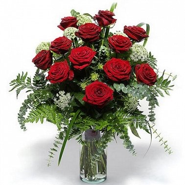 12 Classic Red Roses delivery to Gibraltar