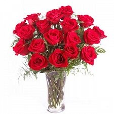 18 Red Roses In Vase gift delivery to Kuwait