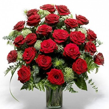 24 Red roses delivery to Latvia