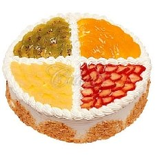 Four Color Fruits Cake delivery to China