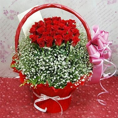 Roses Basket B flowers delivery to China