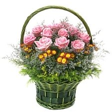 Rose Basket B Flowers delivery to China