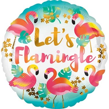 Lets Flamingle Standard Foil Balloon delivery to UK [United Kingdom]