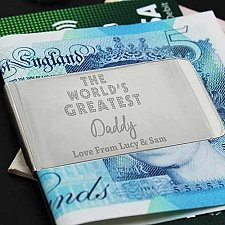 Personalised Worlds Greatest Money Clip