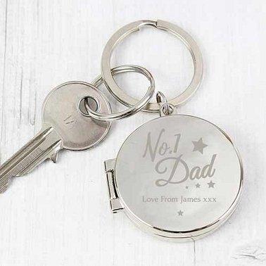 Personalised No.1 Dad Photo Keyring