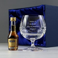 Personalised Cut Crystal & Brandy Gift Set delivery to UK [United Kingdom]