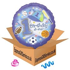 1st Birthday All Star Balloon delivery to UK