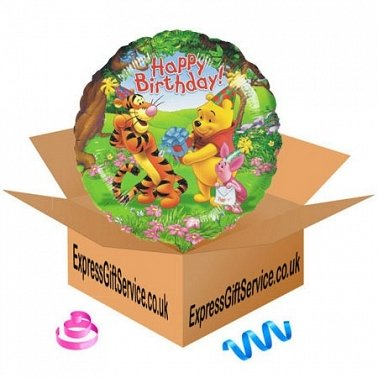 Winnie the Pooh Birthday Balloon delivery to UK
