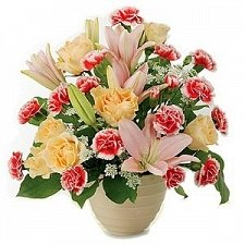 Carnations And Lilies Arrangement delivery to Kuwait