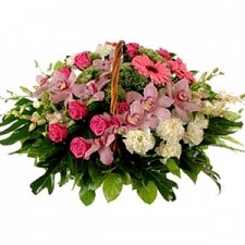 Colorful Flower Basket delivery to Lebanon