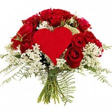 12 Red roses with Heart delivery to Lebanon